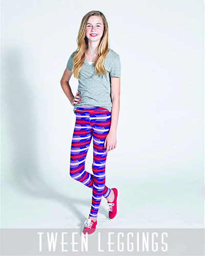 LuLaRoe Tween Leggings being modeled
