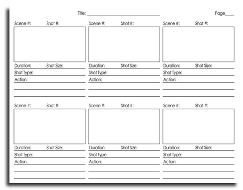 Storyboard Template Pdf Blackdgfitness