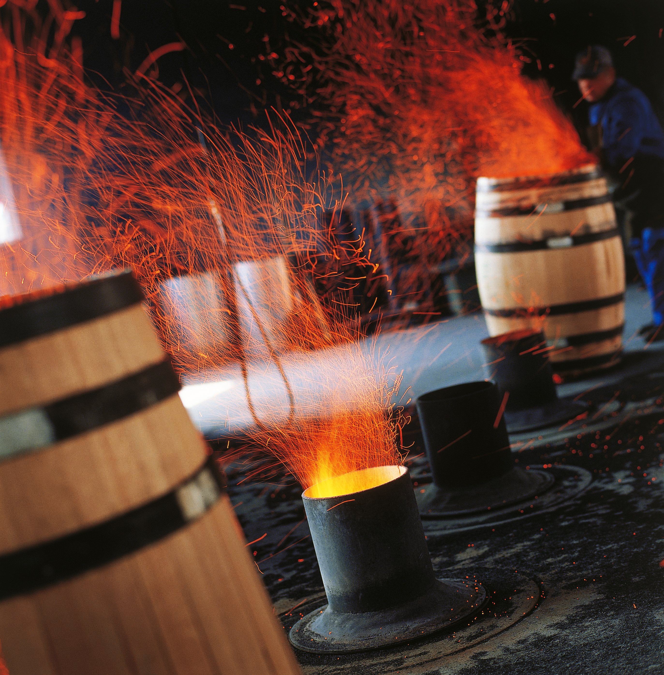 Toasting at the cooperage