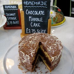 chocolate marble cake homemade at our tea room