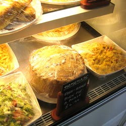 homemade hot pie selection at our tea room