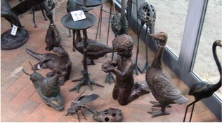 garden ornaments for sale at sturmer nurseries