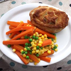 pie and vegetables