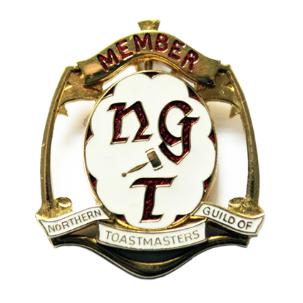 Official Badge of Memebers of the Northern Guild of Toastmasters
