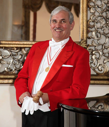 Photo of Toastmaster at wedding venue