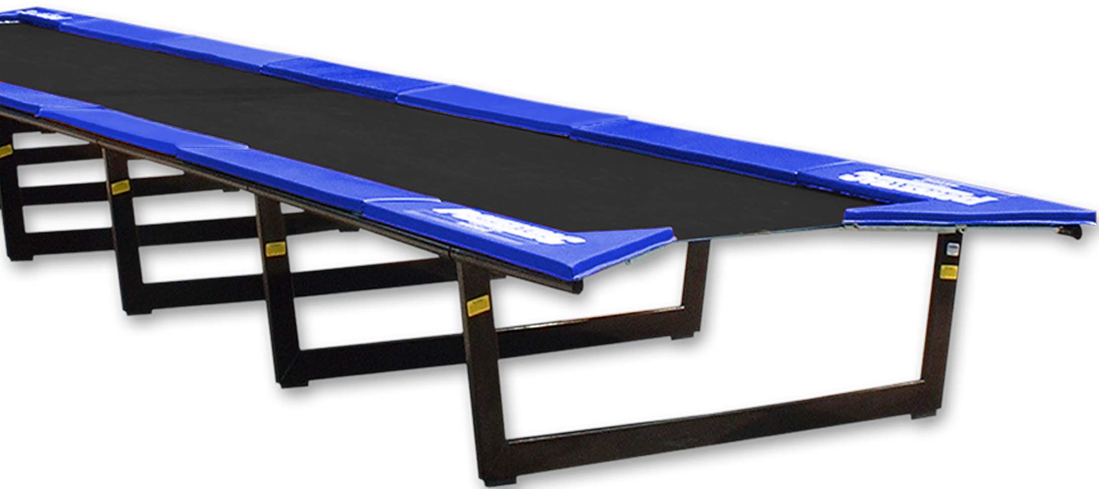 PowerTrac Power Track is a tumbling trampoline used in the training of tumbling and gymnastics skills