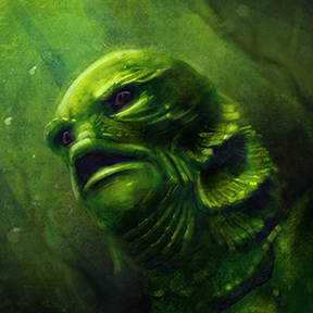 Digital Painting of the Creature from the Black Lagoon