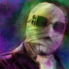 Digital Painting of the Invisible Man