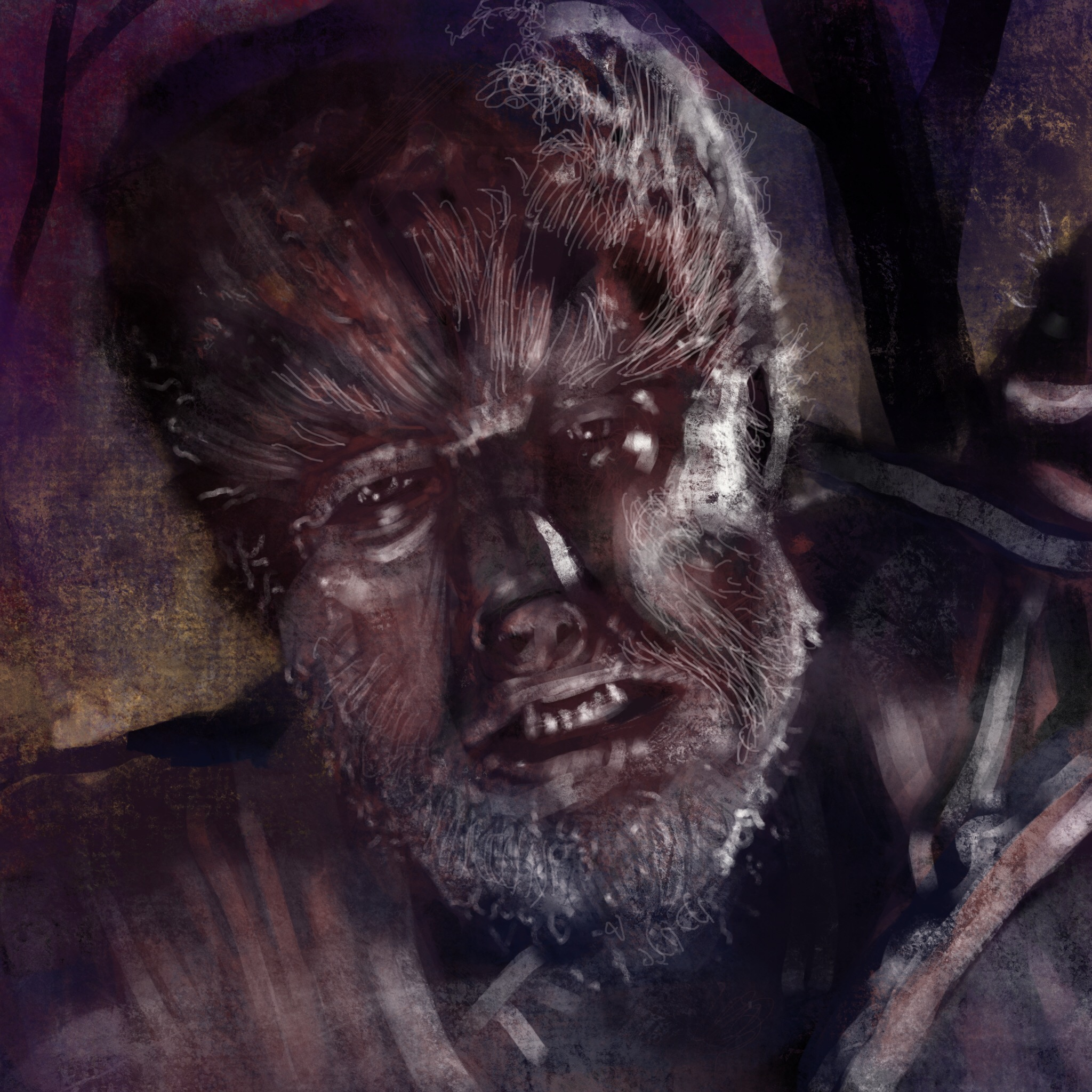 Digital Painting of the Wolfman