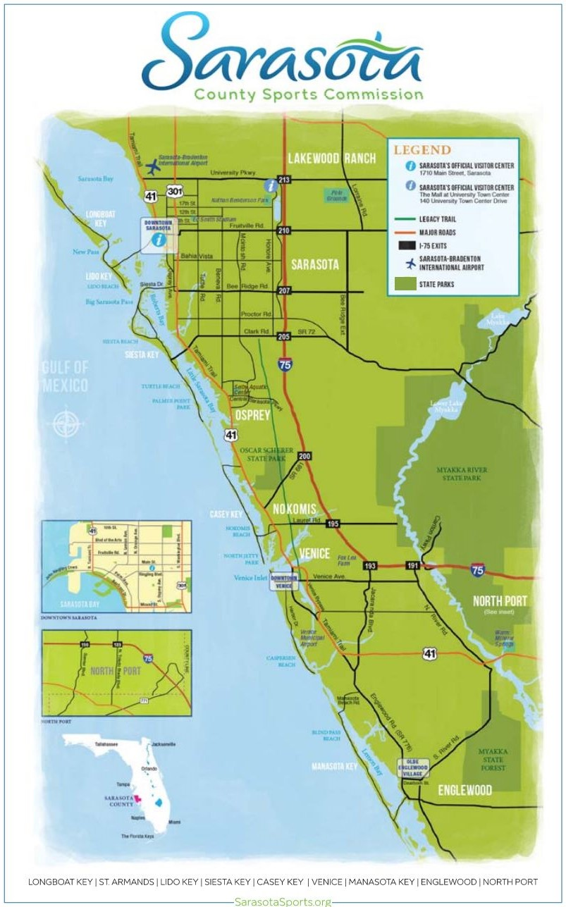 Map Of Florida Sarasota.2018 World Rowing Masters Regatta Official Site Sarasota